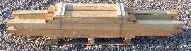 HØJBED i Robinietræ 120x240 H30cm