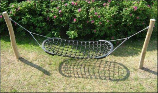 hængekøeje - kraftig model til legeplads og have