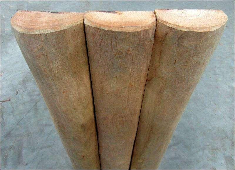 palisade halvpaele i ren kernetræ