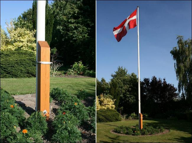stolpe - flagstang